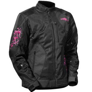 NWT Castle Prism Women's Motorcycle Jacket Magenta